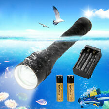 15000lm 3x XML L2 LED immersioni subacquee 100m torcia elettrica Torch 2*18650 ON-OFF LIGHT Q