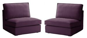 IKEA KIVIK One Seat Sofa Section Covers Dansbo Lilac Two Chair Slipcovers NEW