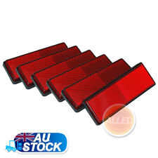 6 PCS Trailer Rectangle Reflectors Red Self Adhesive Camper Van Truck Caravan