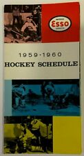 1959/60 ESSO NHL National Hockey League Schedule Sked EX