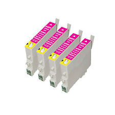 4 Magenta Cartridges P50 R265 R285 R360 RX560 PX700 T0803 Compatible Inks