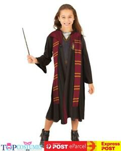 Hermione Hooded Robe Harry Potter Girls Party Costume Hogwarts Book Week