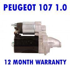 FITS Peugeot 107 1.0 hatchback starter motor 2005 2006 2007 2008 2009 - 2015