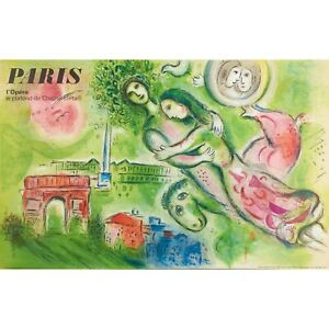 Marc Chagall Romeo & Juliet Paris Opera 1964 Lithograph Poster
