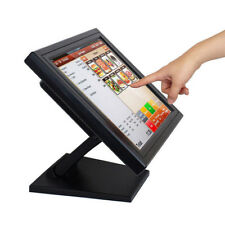 "15"" POS Touch Screen LCD Monitor Touchscreen Kiosk Restaurant Bar Retail USB VGA"