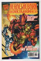 Heroes Reborn The Return #7 (Dec 1997 Marvel) [Iron Man Variant] David Larroca m