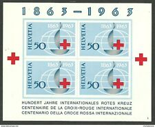SWITZERLAND 1963 RED CROSS OMNIBUS IMPERF M/SHEET MNH