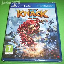 KNACK 2 NUEVO Y PRECINTADO PAL ESPAÑA PLAYSTATION 4 PS4