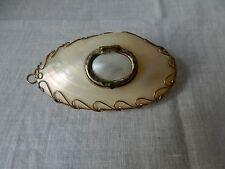 VINTAGE SHELL MOTHER OF PEARL SNUFF/TRINKET BOX/PENDANT