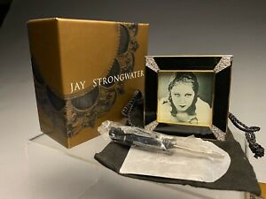 New Unused Jay Strongwater Swarovski Miniature Art Deco Picture  Frame W/Box (3)