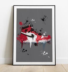 Nike Air Jordan Art Print, Jordan Air 1 Print, Nike Sneaker Print, Home Decor