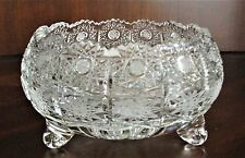 "Bohemia Crystal Footed Bowl, 6"" Wide, hand cut, Queenlace, From Czech Republic"