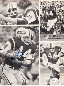 John Riggins autographed signed autograph New York Jets magazine photo page JSA