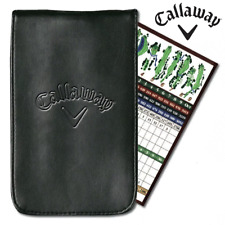 CALLAWAY DELUXE PU LEATHER GOLF SCORE CARD HOLDER +EMBOSSED CALLAWAY LOGO
