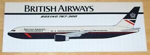 British Airways (UK) Boeing 767-300 Airline Sticker