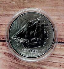 2021 Cook Islands Bounty 1oz Silver Bullion coin in capsule