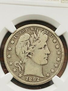 1892-S Barber Half Dollar 50c NGC Certified VG10
