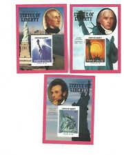 stamp sheet - ST LUCIA - STATUE OF LIBERTY * 3 US PRESIDENTS