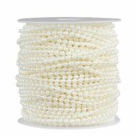 Pearl Garland - Round Pearl Bead Trim Spool for DIY Crafts, 3mm in Dia, 33 Yards