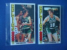 1976 TOPPS BASKET BALL BOSTON CELTICS LOT JOHN HAVLICEK & DAVE COWENS NICE