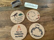 4 Unique Firefly Cork Coasters from Comic-Con, California Browncoats - Serenity