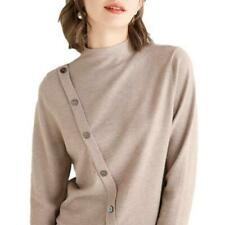 Womens Fashion New Sweater Buttons Decor Long Sleeves Knitted Pullovers Spring D