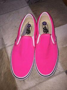 VANS CLASSIC Gr:40 SLIP-ON SNEAKERS Damen Pink HALBSCHUHE Neu Skate Schuhe