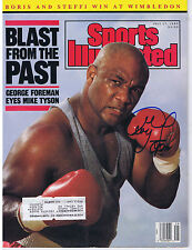 GEORGE FOREMAN SIGNED AUTOGRAPHED SPORTS ILLUSTRATED - 1968 Olympic Gold Medal