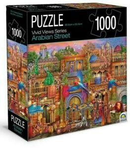 NEW Crown Classic 1000 Piece Jigsaw Puzzle Arabian Street Vivid Views Fun Gift!