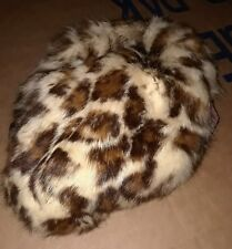 Vintage Fur Hat Satin and Lace in Very Good+ condition