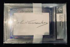 Slabbed authenticated John Newcombe tennis signature index card Davis Wimbledon