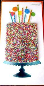 Papyrus Gemmed Sprinkles Cake Happy Birthday Greeting Card