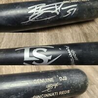 BLAKE TRAHAN CINCINNATI REDS AUTOGRAPHED SIGNED GAME USED BROKEN BASEBALL BAT