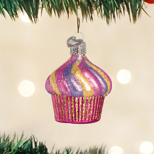 Cupcake Glass Ornament Old World Christmas NEW IN BOX