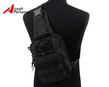 Tactical Military Airsoft Outdoor 1000D Molle Shoulder Bag Pouch Backpack Black
