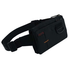 Stealth Polyester Waist Bag with 4 Separate Sections - Unisex Black Fanny Pack