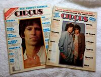 CIRCUS MAGAZINES x 2 • 1976-77 • ROLLING STONES Jagger Richards • KISS • HENDRIX