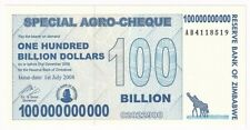 Zimbabwe 100 Billion 100000000000 Dollars 2008 Seria AB P# 64 UNC (1653)