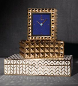 NIB (L'objet Inspired) Gold Pyramid Studded Stud Decorative Box