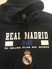 Real Madrid Men's Black Sweatshirt Xl New Soccer Club Nwt Hoodie 100% Polyester