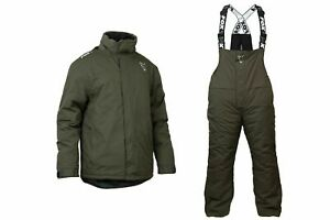 Fox Carp Winter Suit Fishing Thermal Waterproof Suit Jacket / Bib And Brace 2021