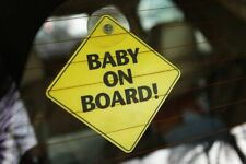 X1 Baby On Board Sign Child Vehicle Window Safety ( hight visibility )