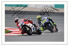 VALENTINO ROSSI & ANDREA DOVIZIOSO SIGNED AUTOGRAPH PHOTO PRINT MOTO GP