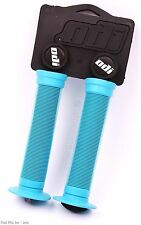 ODI Soft Flanged Longneck ST Soft Grips Softies BMX Bikes & Scooters - AQUA BLUE