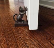 Cat Scratching Door Stopper Door Stop Cast Iron Home Decor Antique Black