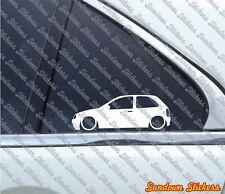 2x tuning stickers auto aufkleber - for Opel Corsa B (3-Door)  | GSi
