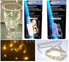 10er LEDs Drahtlichterkete Lichterkette Micro LEDs Draht inkl Batterien Warmweiß