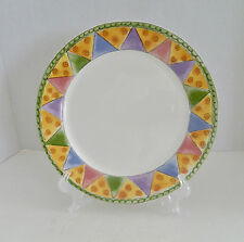Sango Sweet Shoppe Dinner Plate by Sue Zipkin Marzipan #3025 Green Edge Pastels