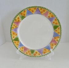 Sango Sweet Shoppe Dinner Plate by Sue Zipkin Marzipan #3025 Green Edge Pastels