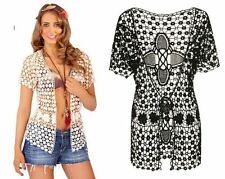Tie Hip Length Short Sleeve Jumpers & Cardigans for Women